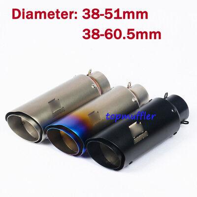 Motorcycle Exhaust Muffler Baffle Pipe No DB Killer Slip On 51mm//60mm Universal