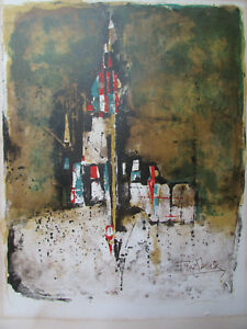 Johnny-Friedlaender-lithograph-Arabesque-1972-abstract-art-modernism