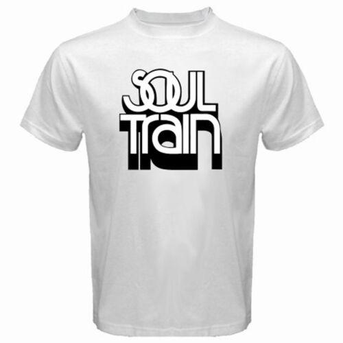 New Soul Train Retro Music TV Show Logo Men/'s White T-Shirt Size S to 3XL