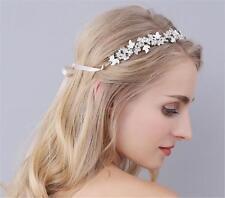 Vid de pelo tiara de cristal elegante tocados boda nupcial diadema de diamantes de imitación