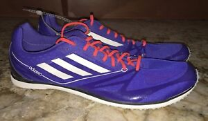 best website fb6e9 77bd6 Image is loading ADIDAS-AdiZero-Cadence-2-Distance-Track-Spikes-Shoes-