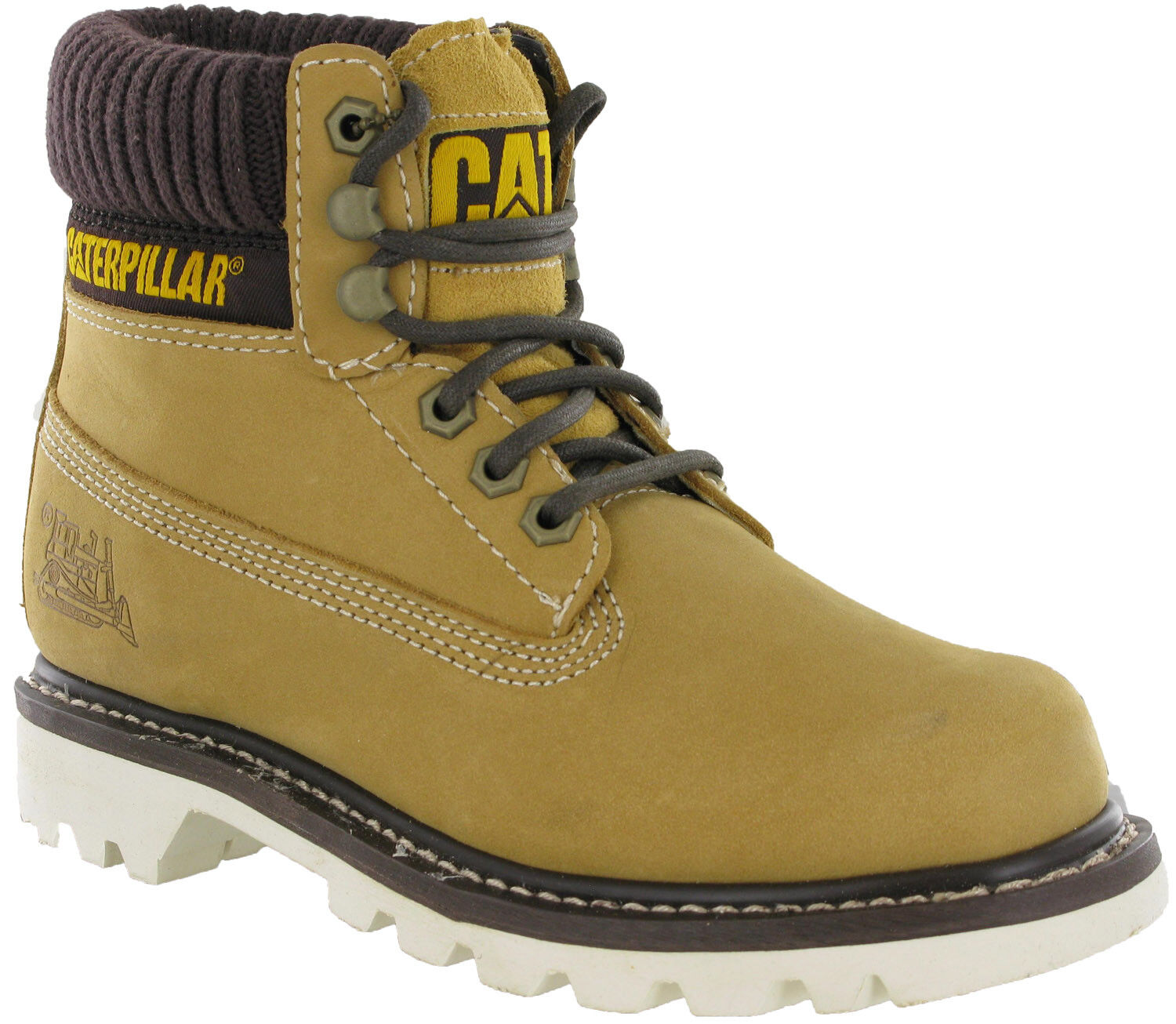 Caterpillar CAT Farbeado Mens Honey Lace Up Casual Walking Hiking Ankle Stiefel