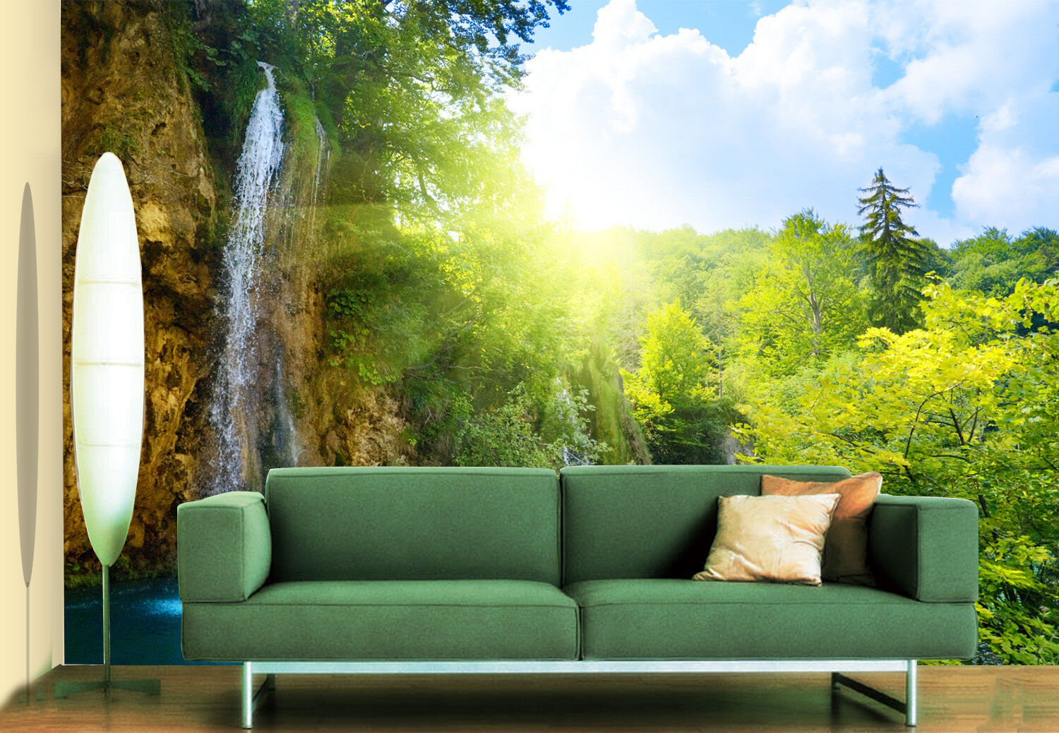 3D Lake, trees 7667 Wall Paper Print Wall Decal Deco Indoor Wall Murals