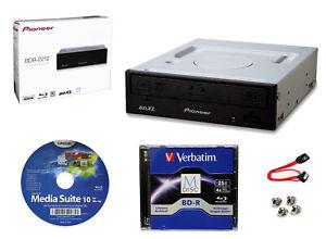 Pioneer BDR-2212 Internal 16x Blu-ray Writer S/W + 25GB M-DISC+Cable+Screws