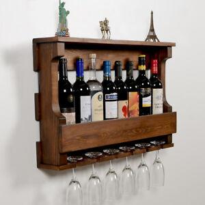 Wall Hanging Wine Rackglass Holder Rustic Modern Wall Mounted Wine