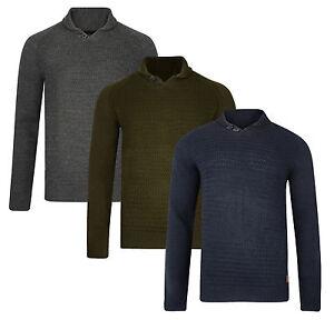 Threadbare-New-Mens-Shawl-Neck-Collar-Jumper-Knitted-Wool-Blend-Pullover-Sweater