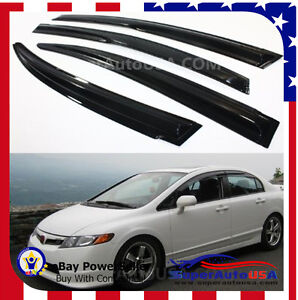 Fit 06 11 8th gen civic sedan jdm mugen style smoke window visor image is loading fit 06 11 8th gen civic sedan jdm publicscrutiny Image collections