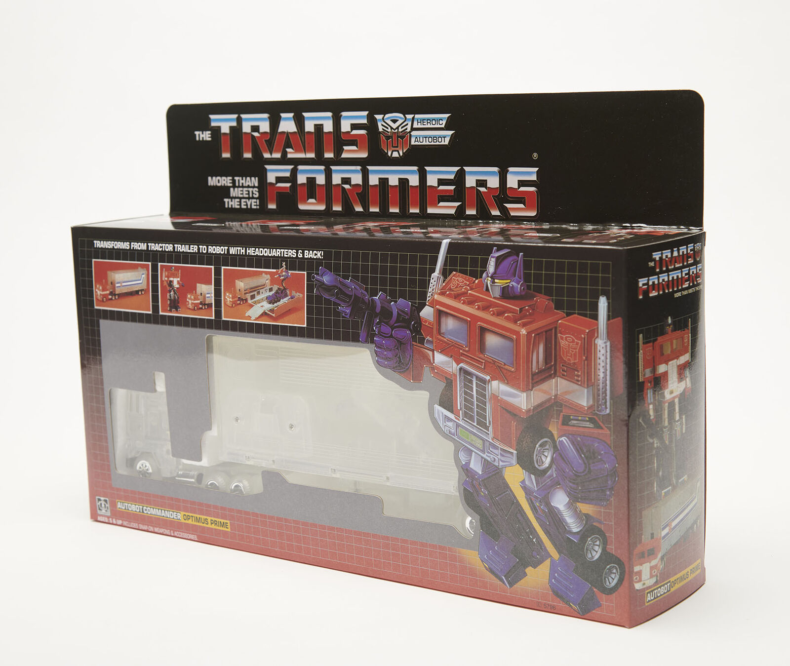 Transformers Optimes Prime G1 Reissue Transparent Version Gift Toy Boy
