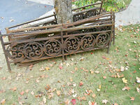 Antique Wrought Iron Railing & Fencing - From Historic Building - 6 feet long