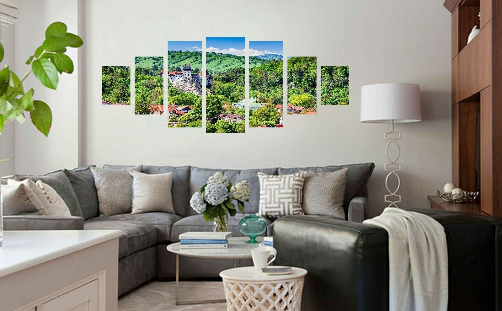 3D Hill Houses 676 Unframed Print Wall Paper Decal Wall Deco Indoor AJ Wall