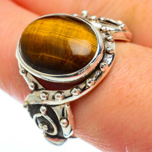Tiger Eye 925 Sterling Silver Ring Size 9.5 Ana Co Jewelry R49099F