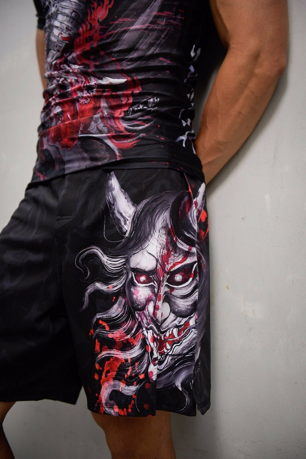 Mens Peresvit Samurai Fury MMA Shorts grappling BJJ Muay Thai Kick Boxing trunks