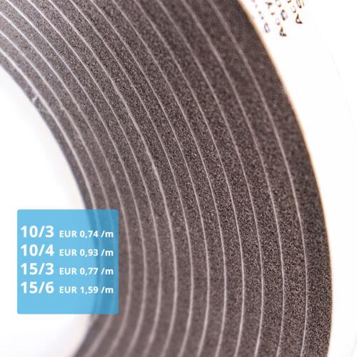 Kompriband Fugendichtband Dichtungsband Quellband Fensterdichtband Farbe GRAU