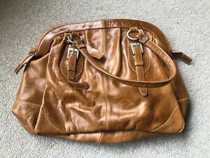 Austin Reed Large Vintage Tote Bag In Tan Leather Ebay