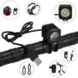 5000LM-3-mode-XML-T6-Mini-USB-LED-luce-della-bicicletta-testa-della-torcia-Set