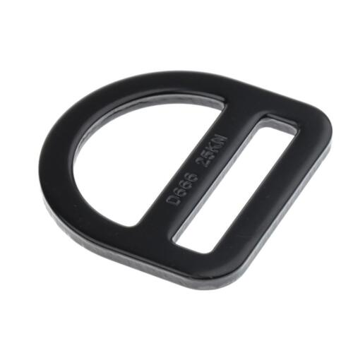 Black Carbon Steel Rock Climbing Harness Safety Belt Buckle Slotted D Ring