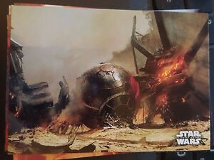 Niet-sportkaarten 2015 Topps Star Wars The Force Awakens #86 Crash on Jakku BLUE Losse kaarten