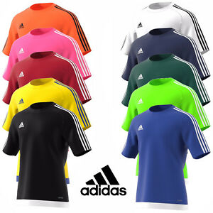 Mens-Adidas-Estro-15-Climalite-Short-Sleeve-T-Shirt-Top-Football-Size-S-M-L-XL