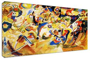 Quadro-Moderno-Astratto-Arredamento-Kandinsky-VII-Arte-Arredo-Casa-Stampa-Tela