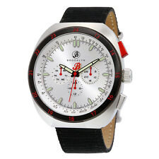 Brooklyn Floyd Multifunction Silver Dial Black Canvas Mens Watch 305-M1124