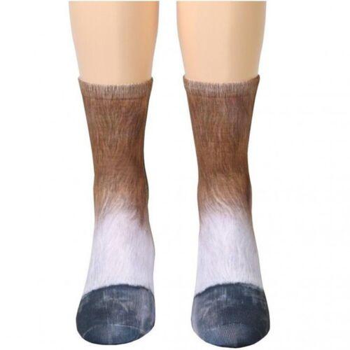 Fashion 3D Printed Animal Paw Crew Socks Unisex Women Men Novelty Cotton Socks
