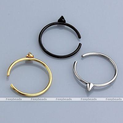 2pcs 22G Taper Steel Fake Hoop Earring Lip Nose Ear Septum Clip On Ring Piercing