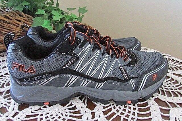 FILA Sz 9 Mens Gray/Black/Orange all terrainTrail Running Shoes Seasonal price cuts, discount benefits