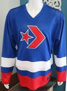 Converse Mens Hockey Jersey T Shirt Size L Long Sleeve 100 ...