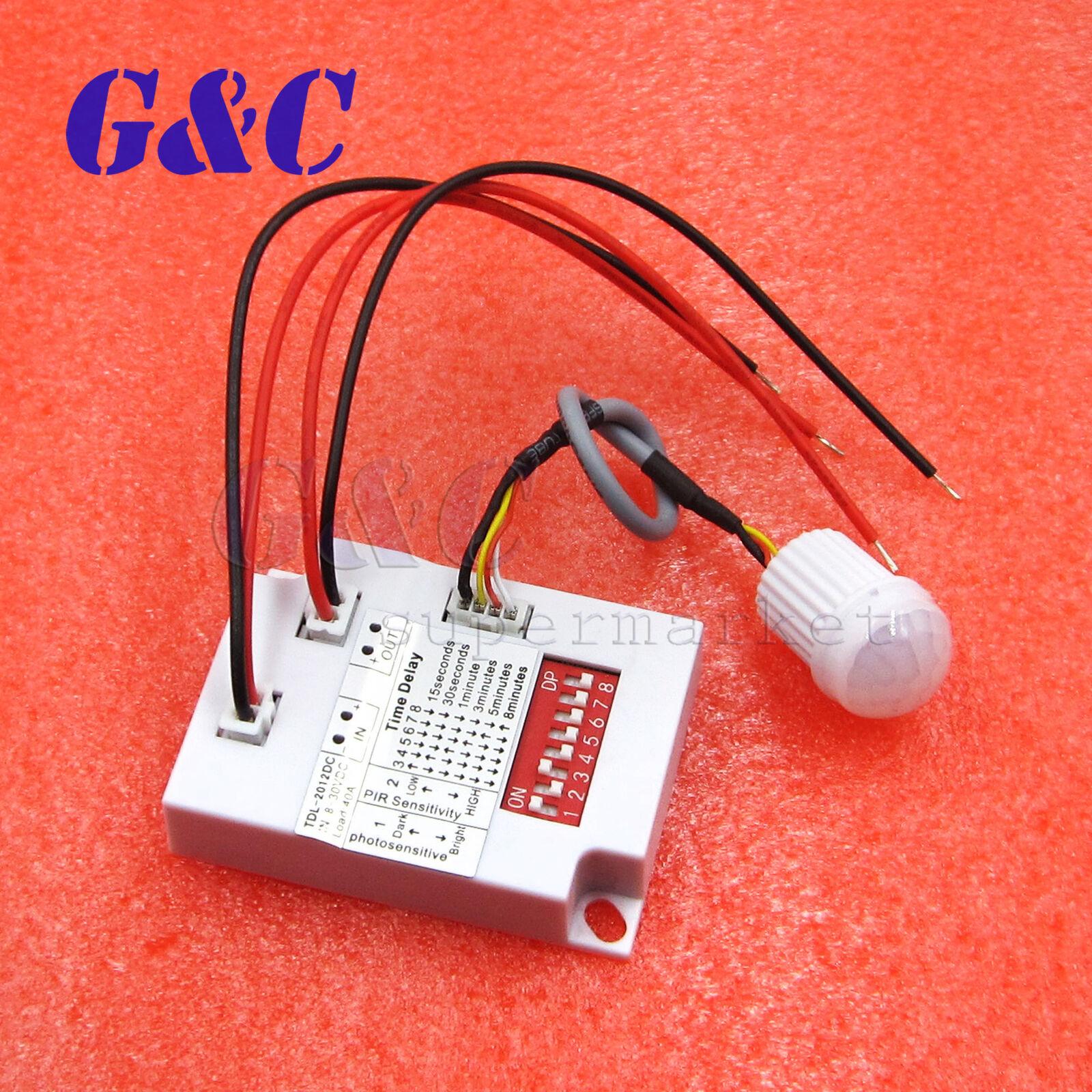 Plastic Intelligent Light Body IR Motion Sensor Switch DC 8-30V TDL-2012 New