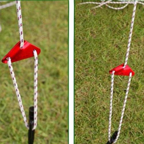 5Pcs Various Color Tent Rope Fastener Guy Line Tensioner Hook Hanger Shan