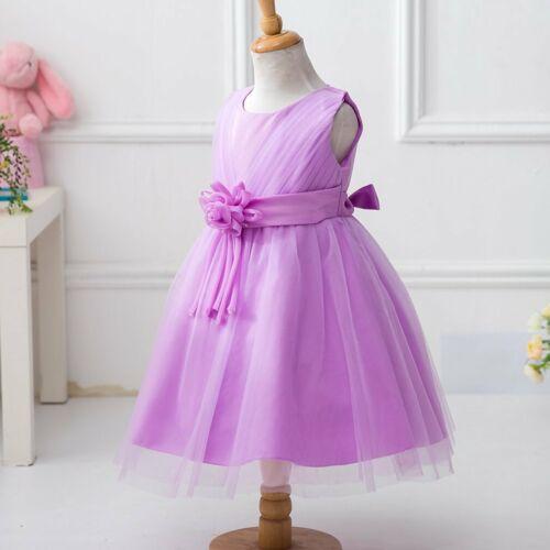 Girls Kids Flower Bridesmaid Party Princess Prom Wedding Christening Dress DD