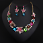 Women-Fashion-Crystal-Necklace-Choker-Bib-Statement-Pendant-Chain-Chunky-Jewelry thumbnail 109