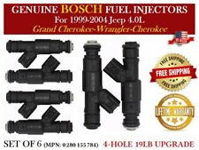 4-HOLE UPGRADE BOSCH 6X FUEL INJECTORS for 1999-04 JEEP CHEROKEE TJ WRANGLER 4.0
