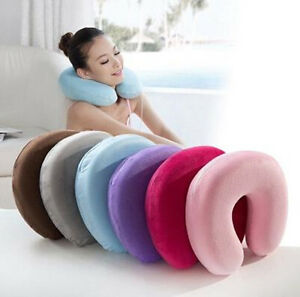 Memory-Foam-U-Shape-Pillow-Neck-Head-Rest-Air-Soft-Cushion-Home-Car-Flight-Newly