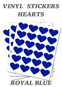 Royal-Blue-Heart-Stickers-20mm-Self-Adhesive-Waterproof-Vinyl-Labels-pack-of-100