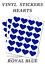 Royal-Blue-Heart-Stickers-20mm-Self-Adhesive-Waterproof-Vinyl-Labels-pack-of-100 thumbnail 1