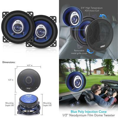 5 x 7 Car Sound Speaker Pair  Upgraded Blue Poly Injection Cone 3 Way 300