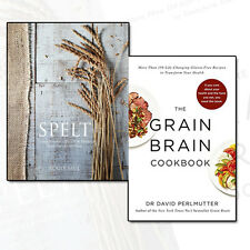 Healthy Eating Recipes Collection Grain Brain Cookbook & Spelt 2 Books Set NEW