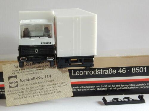 show original title trailer nutzfahrzeuge in box Details about  /Herpa renault truck oh 1//87