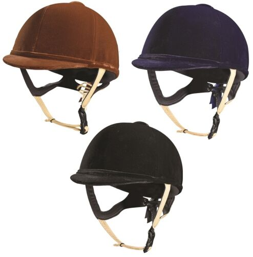 Caldene Tuta PAS015 Horse Riding Hat with Leather Harness 5661cm ALL COLOURS