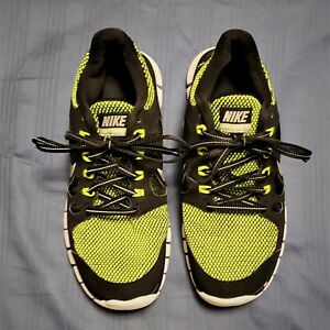 buy online 7a370 64304 Details about BOY'S 2013 NIKE FREE 5.0 LE (GS) #631567-001 Black Green  Running Shoes Size 7Y