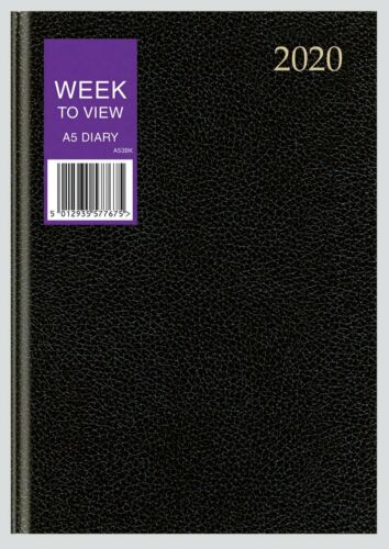 2020 A4//A5//A6 Diary Week to View//Day Per Page Hardback Diary 3 Colour