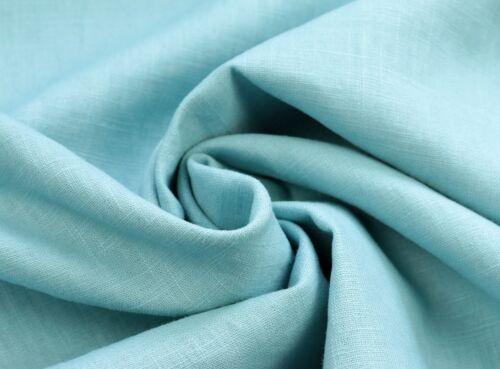 EUR 11,97//m lin 100/% tissu au mètre Enzyme lavé couramment sommerblau