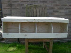 "chicken nest boxes - Quad 41"" x 12"" x 13"" Coop Nest box Chickens / Hens"