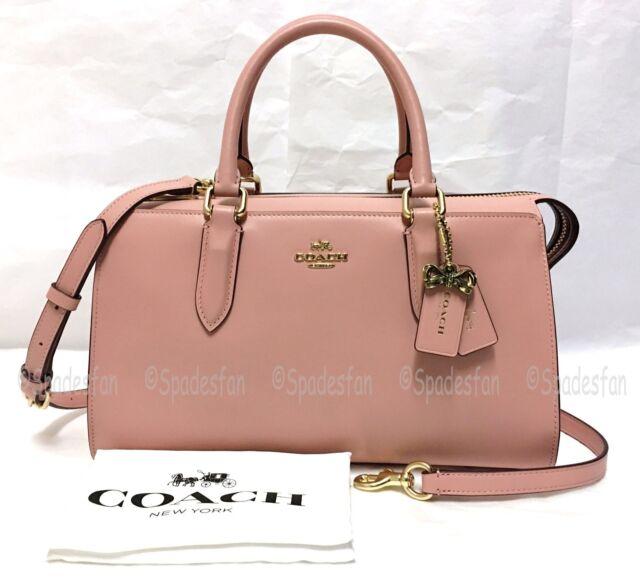 ba14318b Coach Selena Gomez Bond Leather Satchel Bag Pink 39290