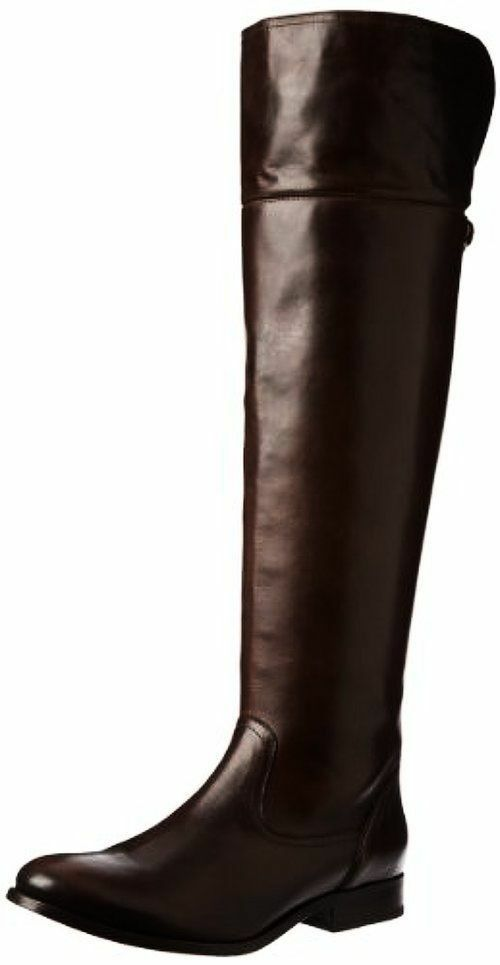 NEW FRYE 77624 Melissa OTK Brown Leather Riding Motorcycle Boots Womens Size 6