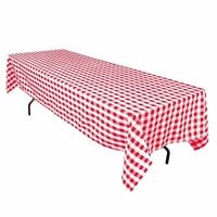 12 Packs Gingham Checkered Tablecloths 60 X 126 Inch Buffalo Polyester Seamless