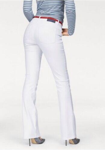 Arizona Bootcut Jeans L-Gr.76-84 Super Stretch Denim Weiß High Waist Damen Hose