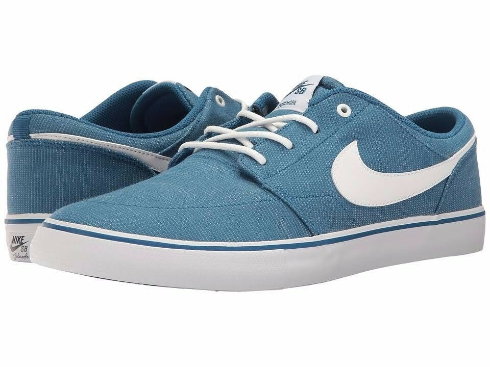 Nike SB Portmore II Mens Skateboarding Shoes Athletic Sneakers Canvas Blue White Wild casual shoes