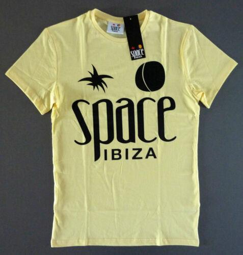 Space Ibiza Club Logo T-Shirt Hommes XS Men/'s Thé Jaune Primark OFF